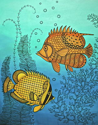 Dos Fishies Original by Stephanie Troxell