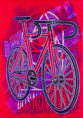 Painting - Dosnoventa Houston Flo Pink by Mark Howard Jones