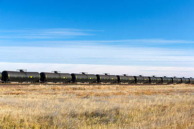 In A Row Photograph - Dot-111 Tank Cars by Todd Klassy