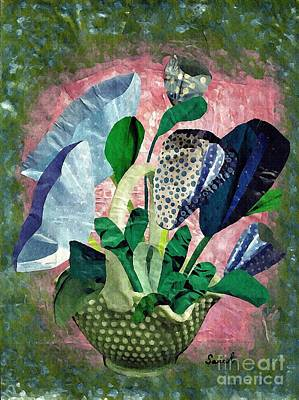 For Business Mixed Media - Dot Bouquet by Sarah Loft