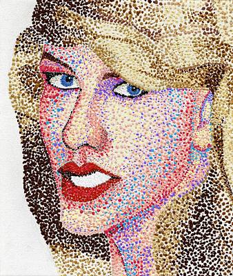 Taylor Swift Painting - Dotted by Andrew Fisher