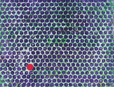 Pentagram Art Painting - Dotz by Chuck Taylor