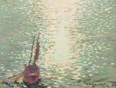 Douarnenez  Reflections On The Sea Print by Emile Bernard