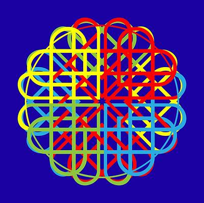 Double Celtic Love Knot Print by John Groves