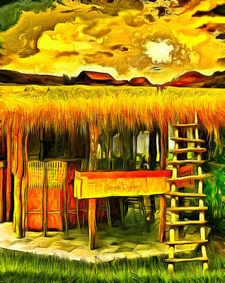 Shed Digital Art - Double Deck For Farming - Da by Leonardo Digenio