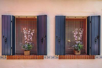 Brick Buildings Photograph - Double Display by Chris Fletcher