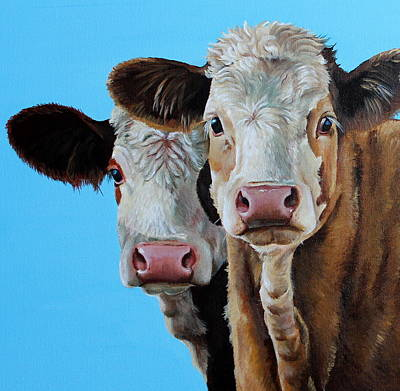 Calf Painting - Double Dutch by Laura Carey