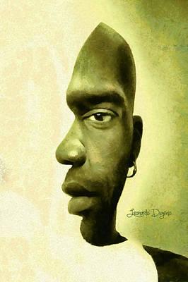 Lips Digital Art - Double Face - Da by Leonardo Digenio