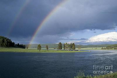 Double Rainbow At Alum Creek Print by Sandra Bronstein