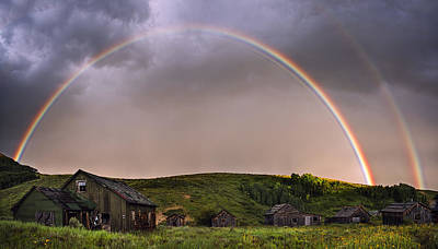 Vintage Photograph - Double Rainbow Rebirth by Dave Dilli