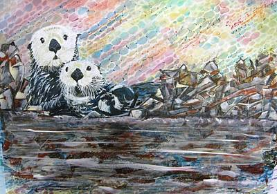 Otter Mixed Media - Double Trouble by David Raderstorf