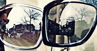 Glass Wall Digital Art - Double Vision by Sarah Loft
