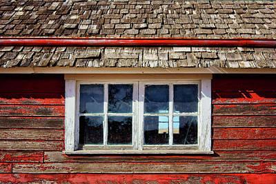 Double Window - Chicken Coop Print by Nikolyn McDonald