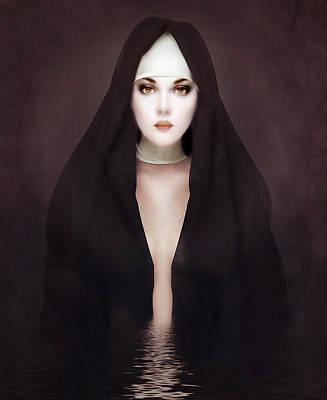 Mystical Women Mixed Media - Doubt by Jacky Gerritsen