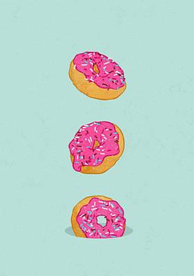 Donuts Digital Art - Doughnuts by Evgenia Chuvardina