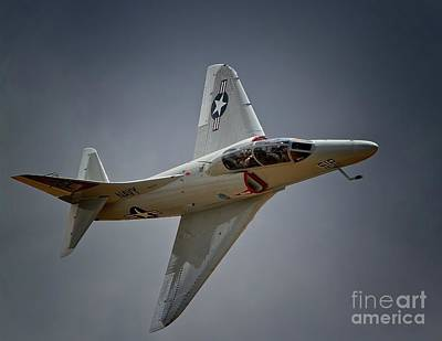 Jester Digital Art - Douglas A4 Skyhawk 2011 Chino Planes Of Fame Air Showe by Gus McCrea