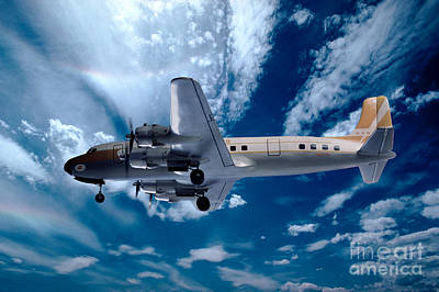 Fixed Wing Multi Engine Photograph - Douglas C-54e - Dc-4, Hk-171 by Wernher Krutein