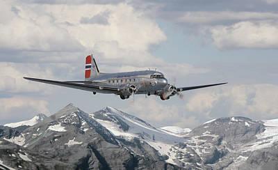 Airliners Digital Art - Douglas Dc3 - Dakota by Pat Speirs