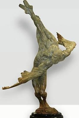 Richard Macdonald Sculpture - Doves Half Life by Richard MacDonald