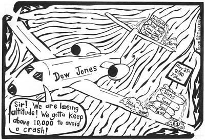 Dow Jones Airlines By Yonatan Frimer Print by Yonatan Frimer Maze Artist