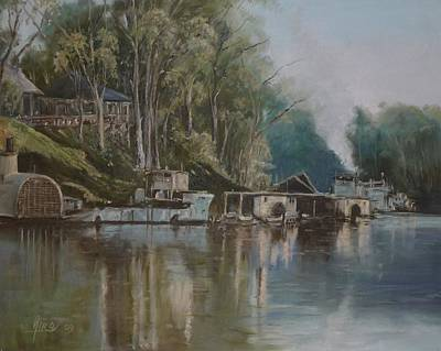 Diko Painting - Down By The River by Diko