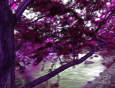 Abstract Digital Art Photograph - Down By The River by Krissy Katsimbras