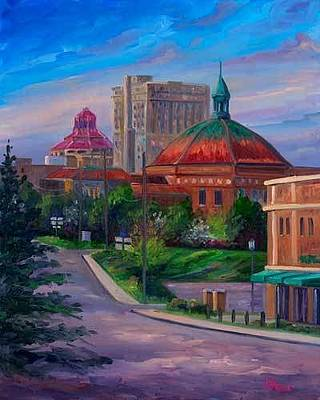 Asheville Artist Painting - Down Charlotte Street by Jeff Pittman