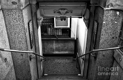 Downtown Stairs Photograph - Down In Downtown Mono by John Rizzuto