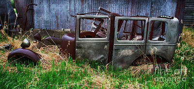 Wrecked Cars Photograph - Down In The Dumps 21 by Bob Christopher