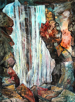 London Tube Mixed Media - Down In The Underground I by Patricia Allingham Carlson