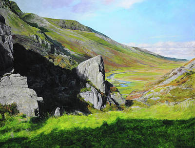 Down The Valley Print by Harry Robertson
