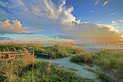 Sunsets Photograph - Down To The Beach 2 - Florida Beaches by HH Photography of Florida