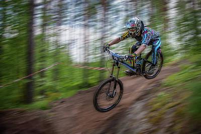 Forest Photograph - Downhill Race by Ari Salmela