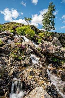 Llanberis Photograph - Downstream by Adrian Evans