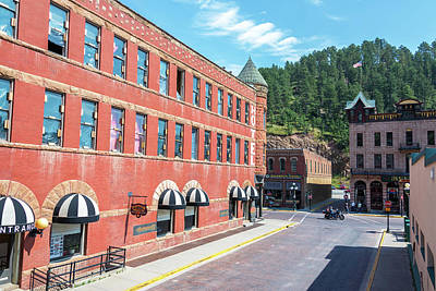 Downtown Deadwood, South Dakota Print by Jess Kraft