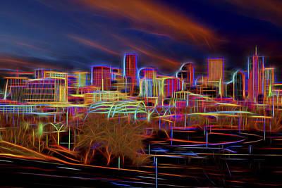 Downtown Denver Print by Kelley King