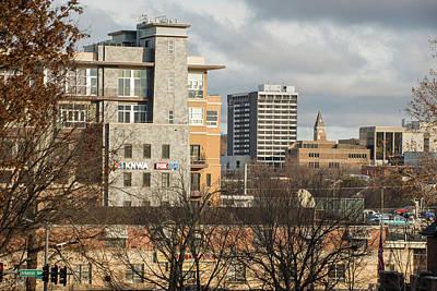 University Of Arkansas Photograph - Downtown Fayetteville Arkansas Skyline - Dickson Street by Gregory Ballos