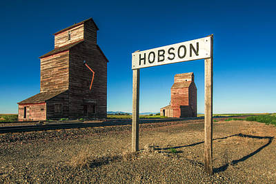 Downtown Hobson, Montana Print by Todd Klassy