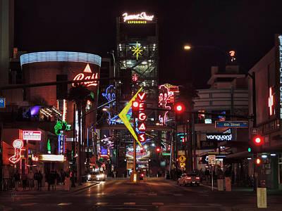 City Photograph - Downtown Las Vegas 001 by Lance Vaughn