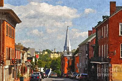 Downtown Lexington 3 Print by Kathy Jennings