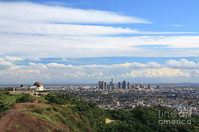 Los Angeles Skyline Photograph - Downtown Los Angeles by Nicholas Burningham