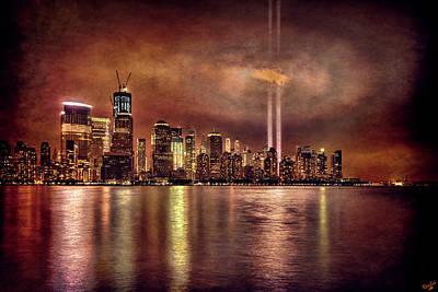 11th Digital Art - Downtown Manhattan September Eleventh by Chris Lord
