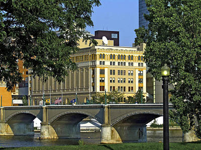 Downtown On The River Print by Richard Gregurich