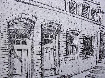 Phoenix Drawing - Downtown Phoenix Building by Aleksandra Buha