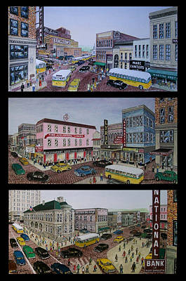 Downtown Portsmouth 1948 Print by Frank Hunter