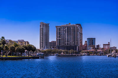 Yacht Photograph - Downtown St. Petersburg by Marvin Spates