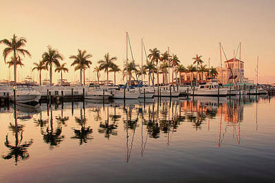 Sailboat Photograph - Downtown Waterfront Vintage by HH Photography of Florida