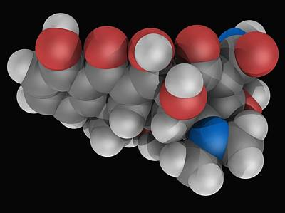 Healthcare And Medicine Digital Art - Doxycycline Drug Molecule by Laguna Design