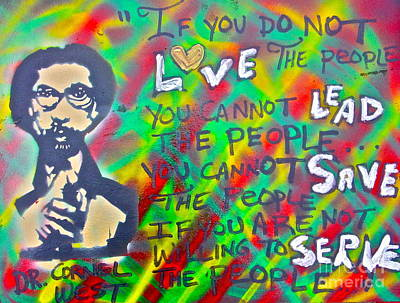 Liberal Painting - Dr. Cornel West  Love The People by Tony B Conscious