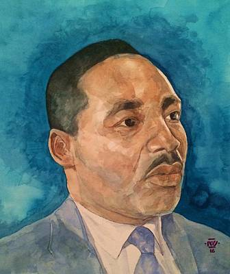 Civil Rights Painting - Dr. King by Nigel Wynter
